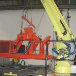 Particolare braccio torre in fase di allestimento