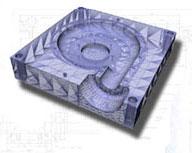 Stampo in fase di progettazione